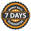 money back guarantee: 7 days