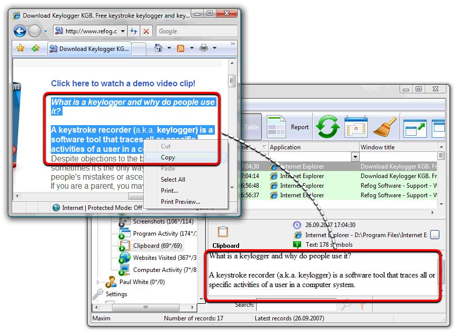 keylogger registration key