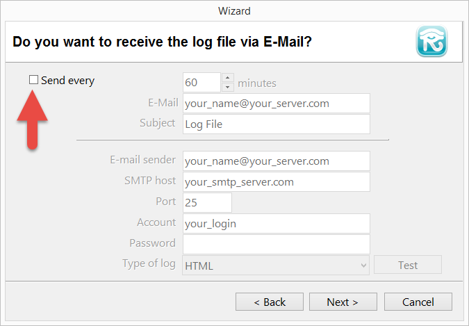 Email delivery settings