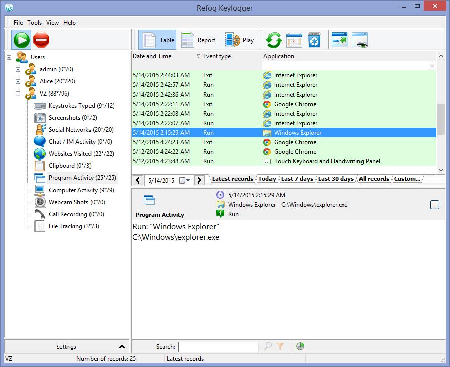 Keystroke recording software for mac